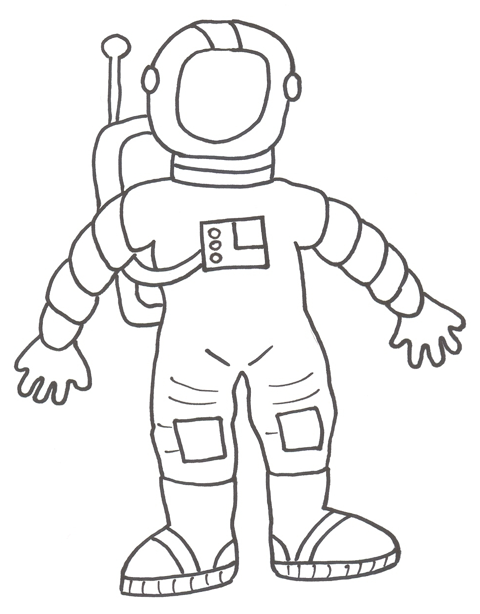 astronautas para niños Colouring Pages
